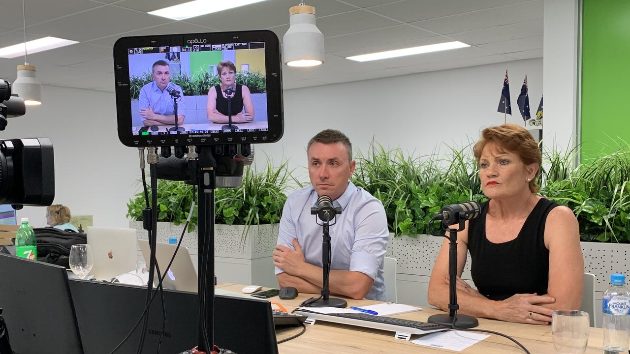 Senator Pauline Hanson and chief of staff James Ashby to host the