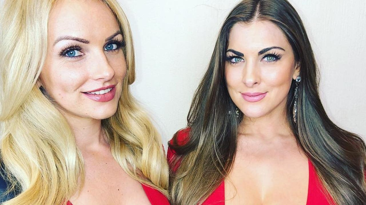 Walk-on models Charlotte Wood and Daniella Allfree may have been banished from darts but the glamorous pair are still thick as thieves.