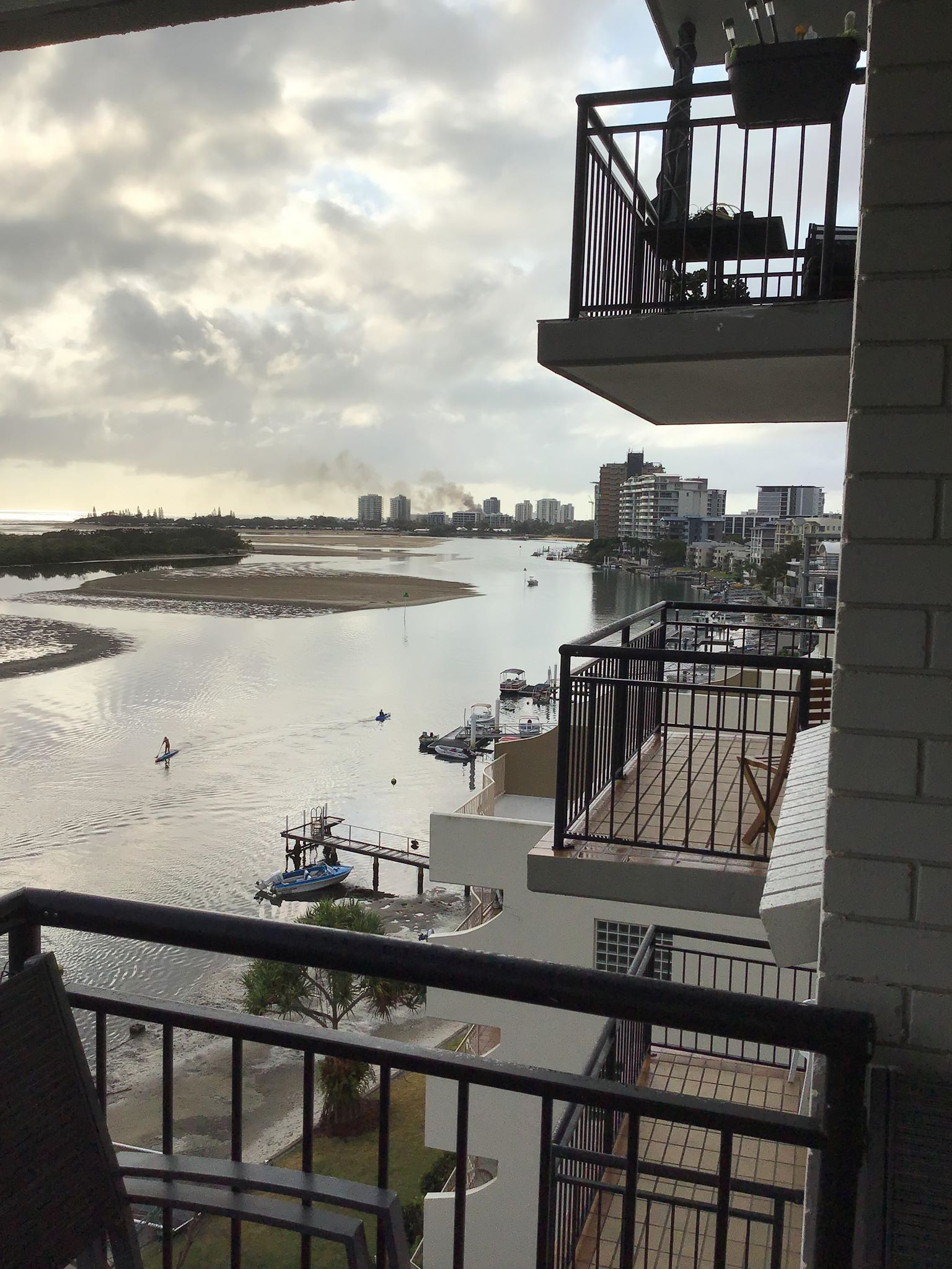 A resident at Duporth Ave captured the smoke billowing over Cotton Tree.