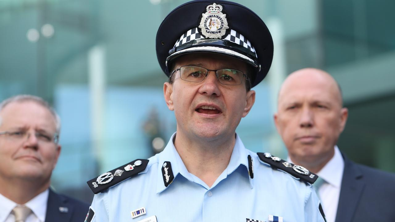 AFP Commissioner Reece Kershaw at Canberra Airport. Picture Kym Smith