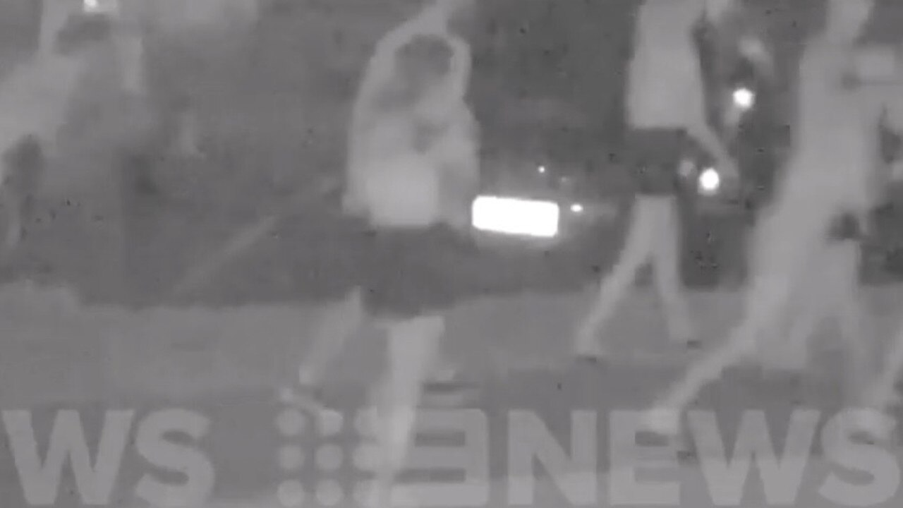 CCTV: CCTV Footage has emerged of an alleged stabbing which occurred at Rainbow Beach on New Year's Eve. Photo: Nine News