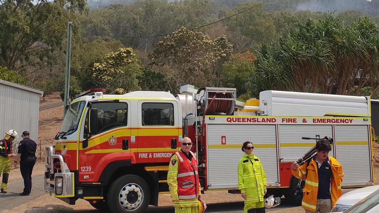 Fire authorities work the Cobraball bushfires in November.