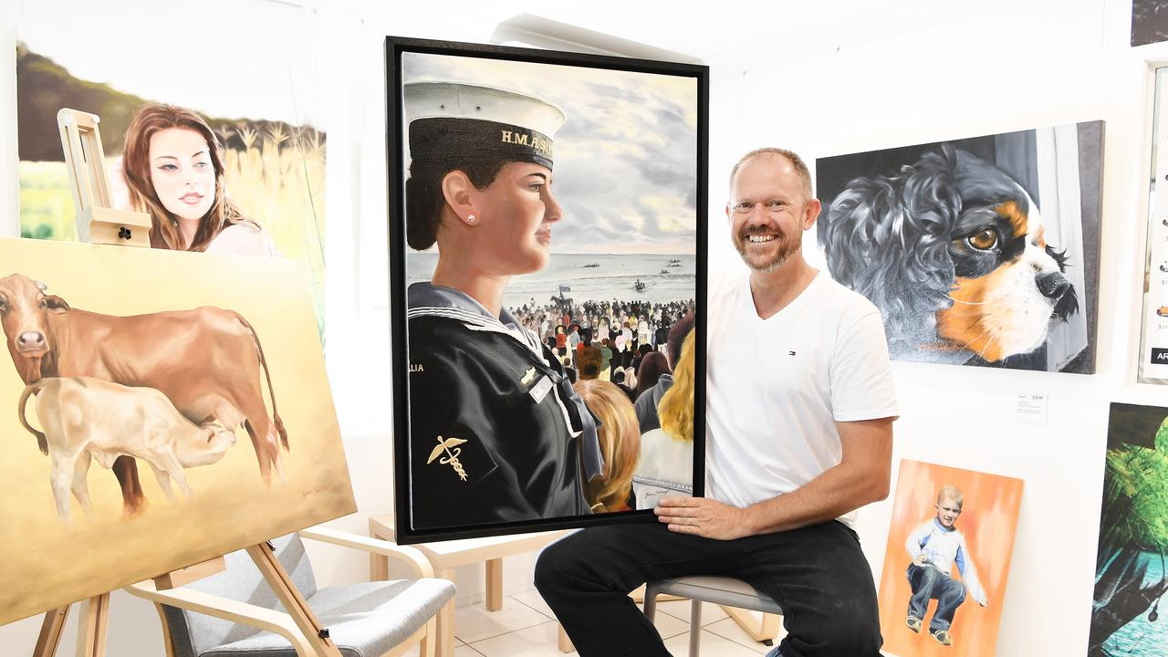EMERGING ARTIST: James Stickland is a local artist who has created some amazing pieces. One has been selected in the finals for the Sunshine Coast local Artist Local Content in January 2020. Photo Patrick Woods / Sunshine Coast Daily.