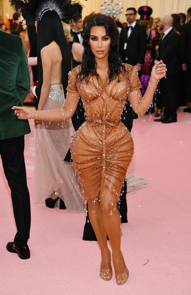 Kim Kardashian West's stunning gown was created for her by the celebrated French designer Thierry Mugler. Picture: Dimitrios Kambouris/Getty Images for The Met Museum/Vogue