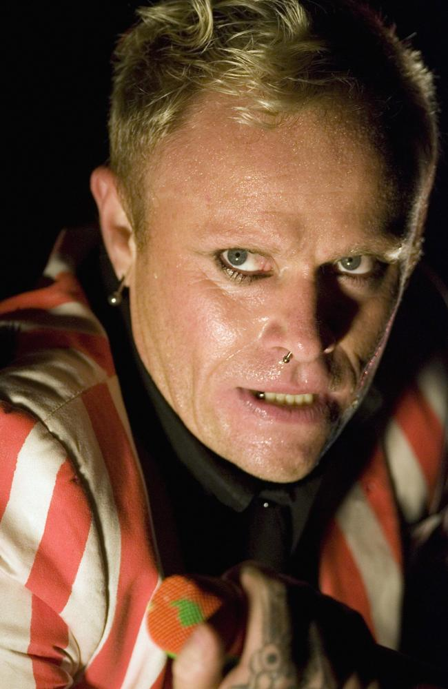 Keith Flint performs during an open air music festival in St. Gallen, Switzerland. Picture: AP