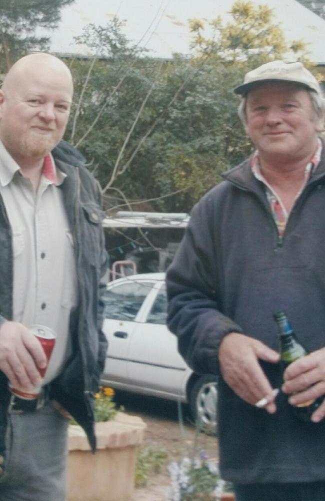 Buchan bushfire victim Mick Roberts (right) with his late nephew Luke.