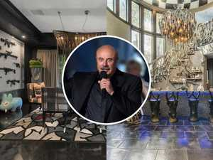 Take a look inside Dr Phil's bizarre Beverly Hills home