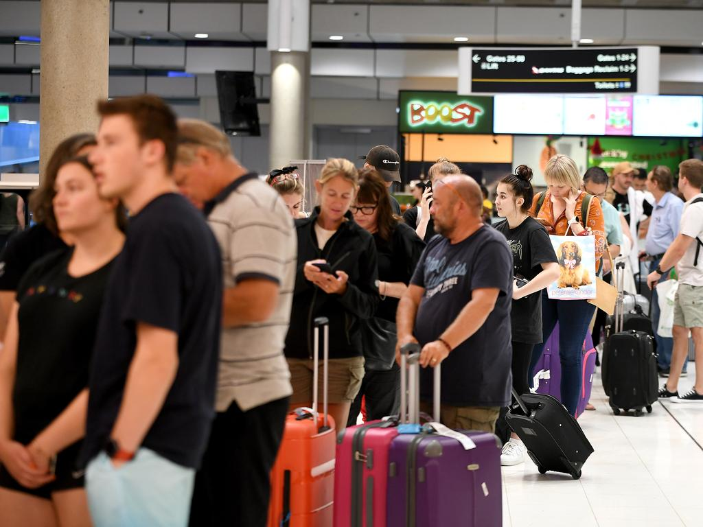 More than 100 flights were cancelled last month after Jetstar ground staff and pilots stopped work. Picture: John Gass