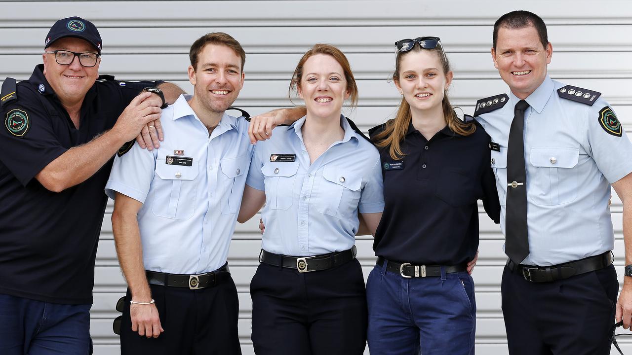 Wayne Joce, Samuel Eitz, Jessica Eadie, Roslyn Dalton and Inspector Joel Gordon. Picture: AAP Image/Josh Woning