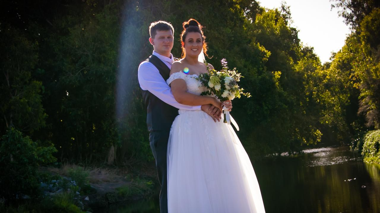 Josef and Kate Pippenbacher on their wedding day.