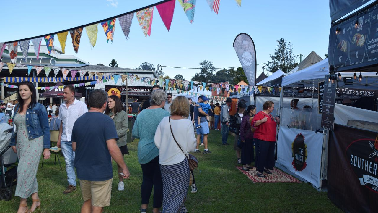 FOOD, GLORIOUS FOOD: Food trucks will be a feature of this year's Ballina Cup. Pictured is the scene at a recent food truck festival in Lismore.