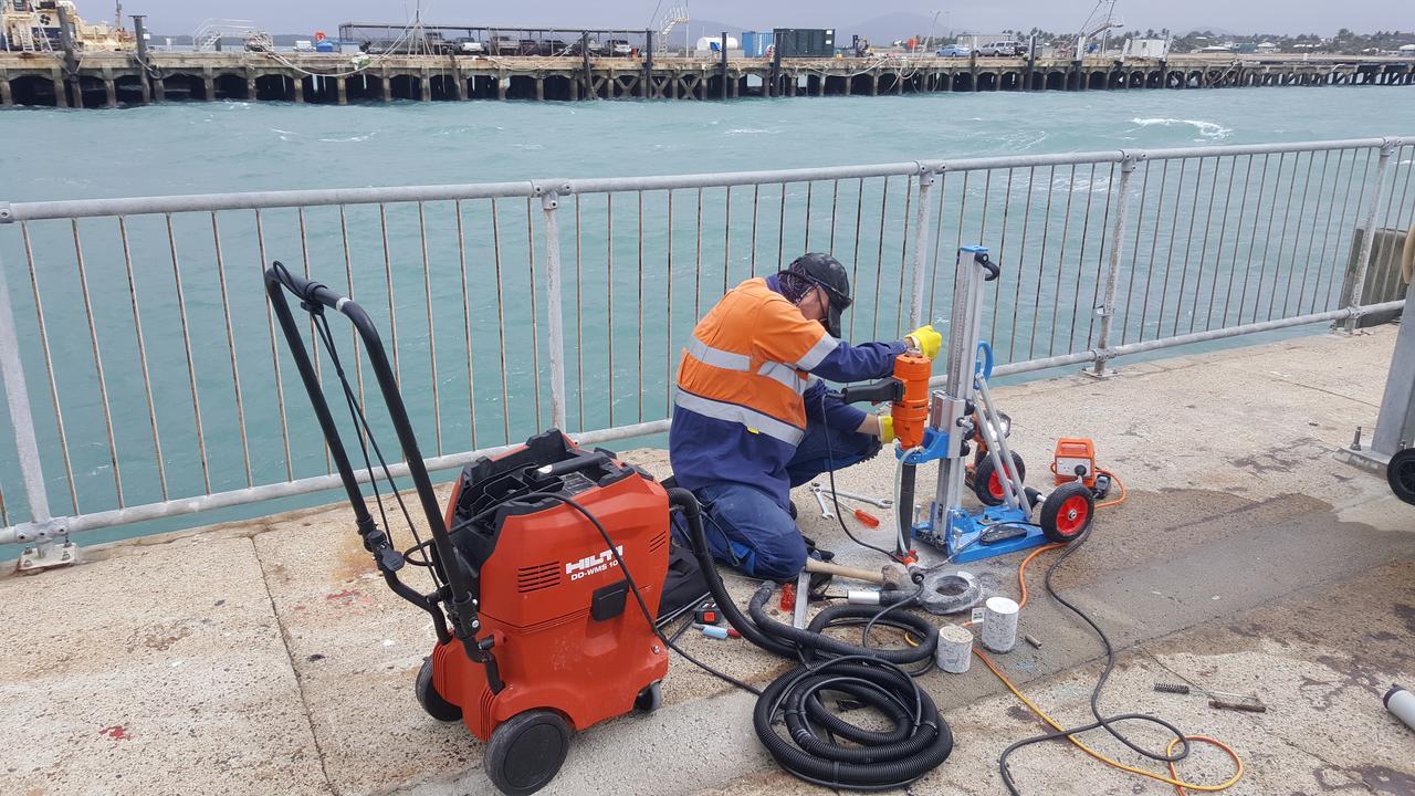 CHECKS: North Queensland Bulk Ports undertook testing on Bowen Wharf in August.