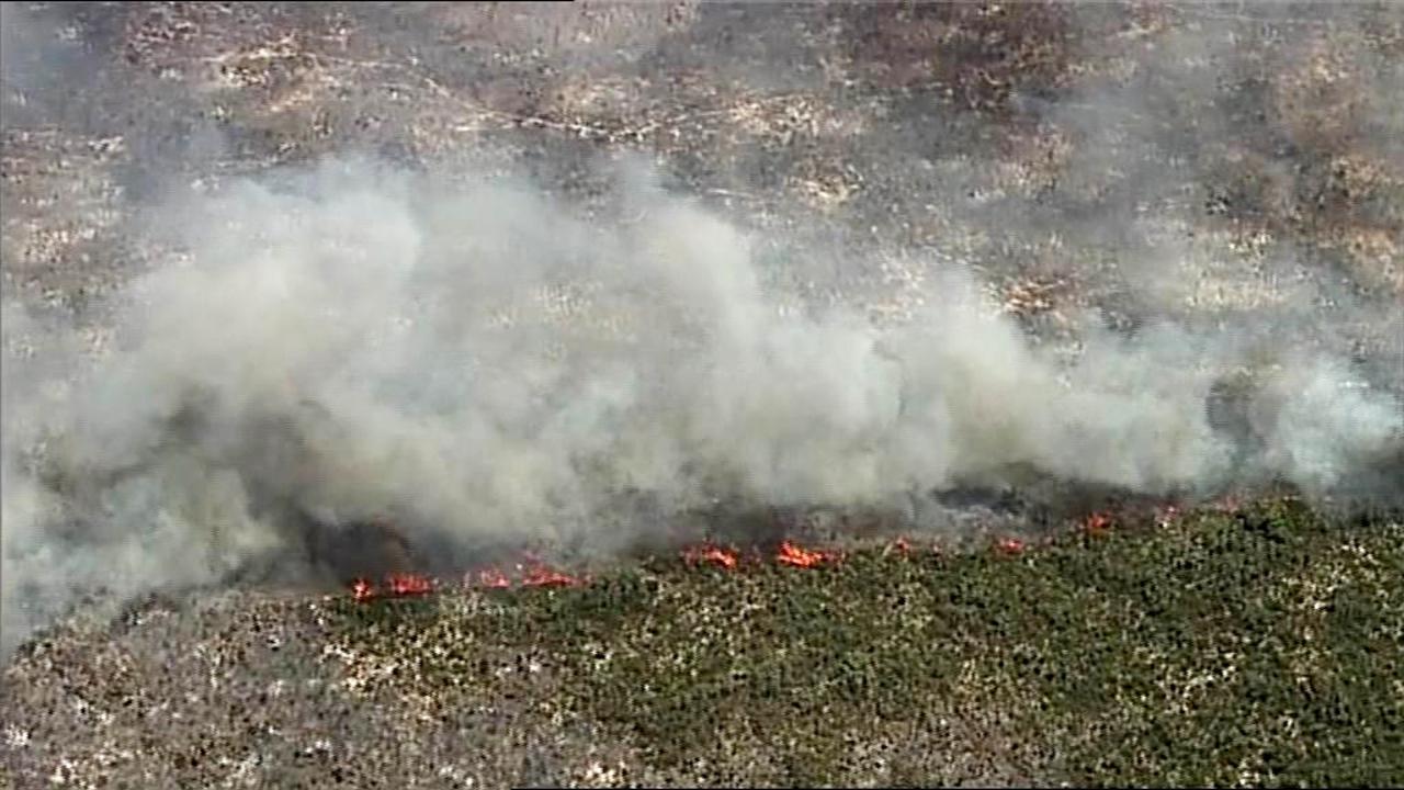 The bushfire burning in Flinders Chase National Park on Kangaroo Island. Picture: 7NEWS Adelaide