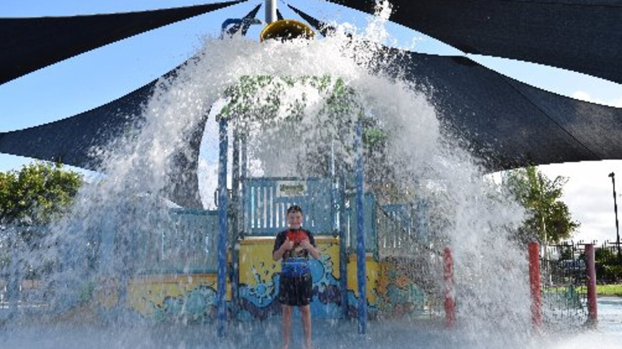 Kids have a bucket of fun at Mackay's Bluewater Lagoon.