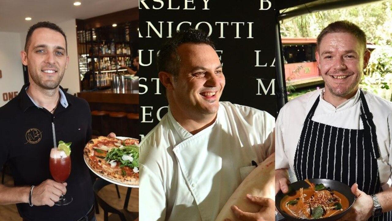 il Vento Restaurant manager Renato Gjergji, Noosa Waterfront Restaurant owner and chef Andrea Ravezzani and Spirit House head chef Aaron Tucker.