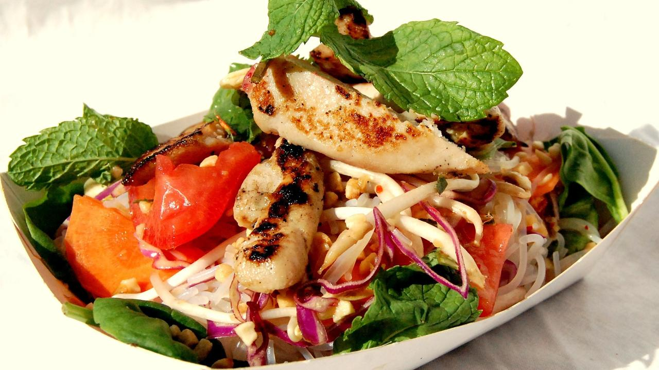 Claude's Food has a varying range of delicious dishes available. This is Asian noodle salad with chicken. Picture: Contributed