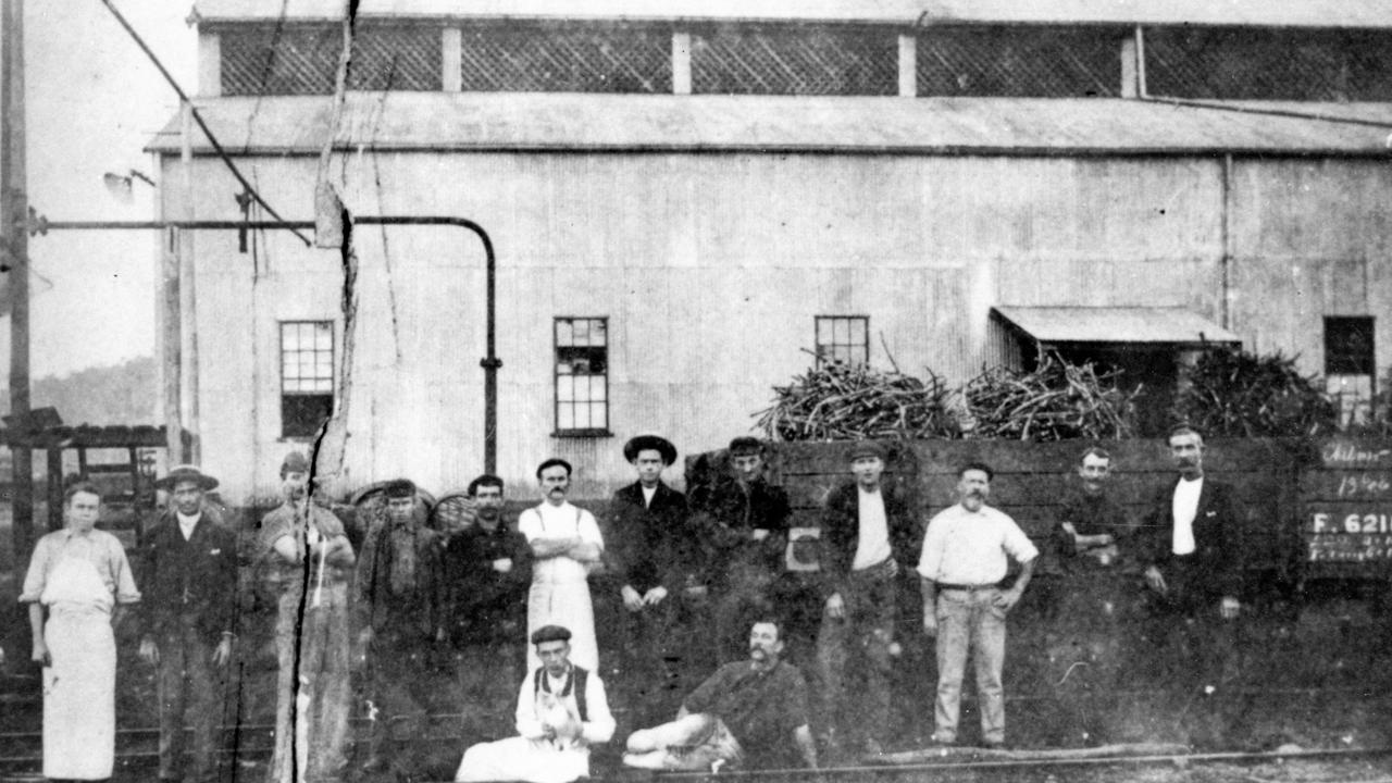 Group of labourers and staff at the Moreton Central Sugar Mill, Nambour, ca 1900. The Mill, which was erected in 1896 under the Sugar Works Guarantee Act. It crushed its first cane in 1897 and had its last crushing season in 2003. Picture: Contributed