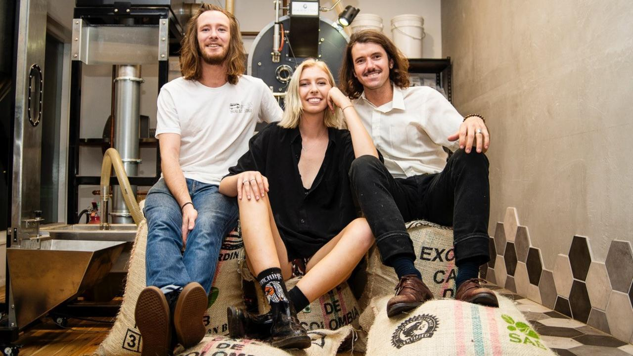Eumundi Coffee Co.'s Hugh Gyngell. Gabby Lowik and Thomas Rumble established their roastery less than one year ago, next door to their cafe The Store Eumundi on Memorial Dr.