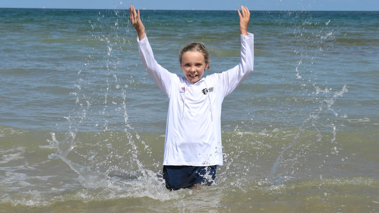 Lily Sayer at Mackay Harbour Beach.