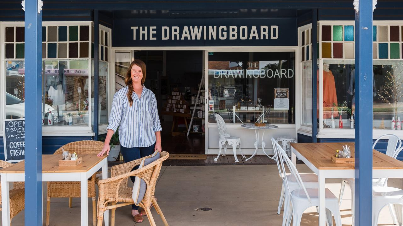 The Drawing Board owner Alexa Russell outside the boutique Blackall business.