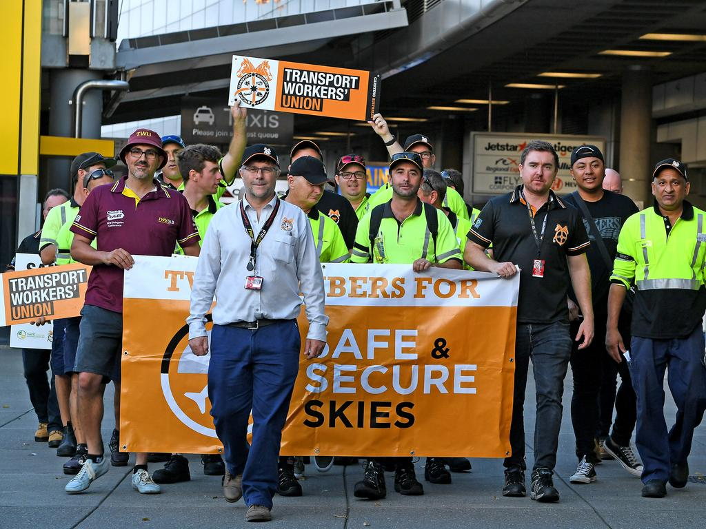 Jetstar staff stopped work in December, throwing flight schedules into chaos. Picture: John Gass