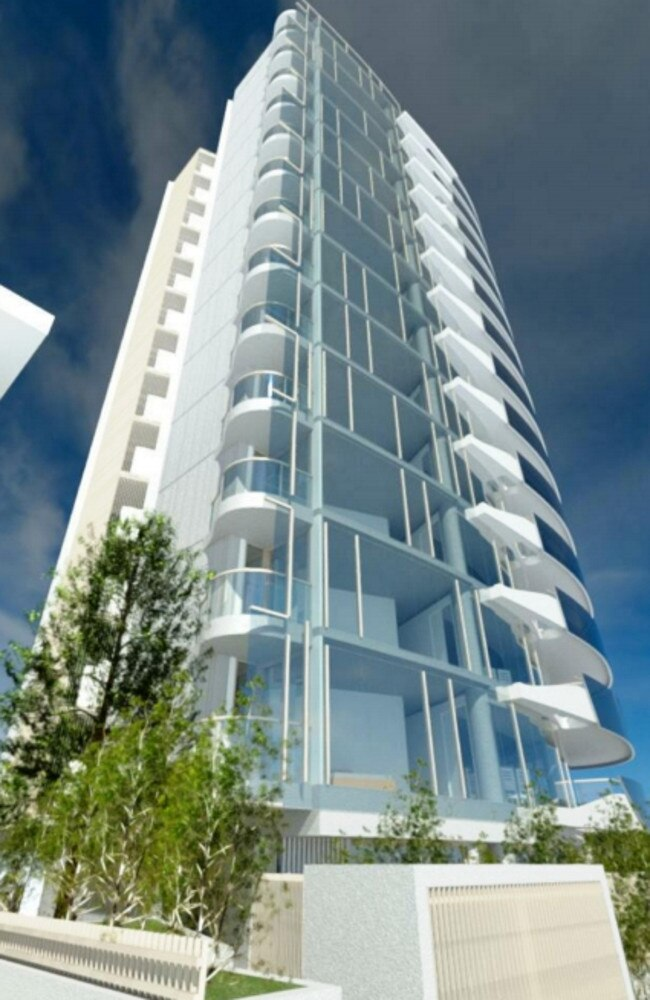 The tower's design is inspired by planes and surfboards. Picture: Supplied