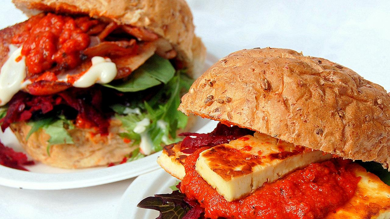 Claude's Food has a varying range of delicious dishes available. This is a haloumi burger. Picture: Contributed