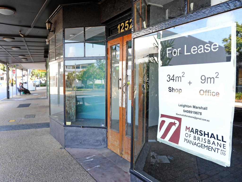 Empty shops and streetrs in Nundah. Picture: John Gass/AAP