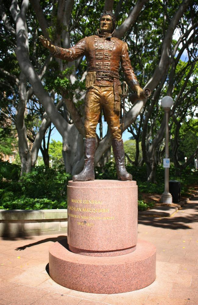The statue of Governor Lachlan Macquarie in Sydney.