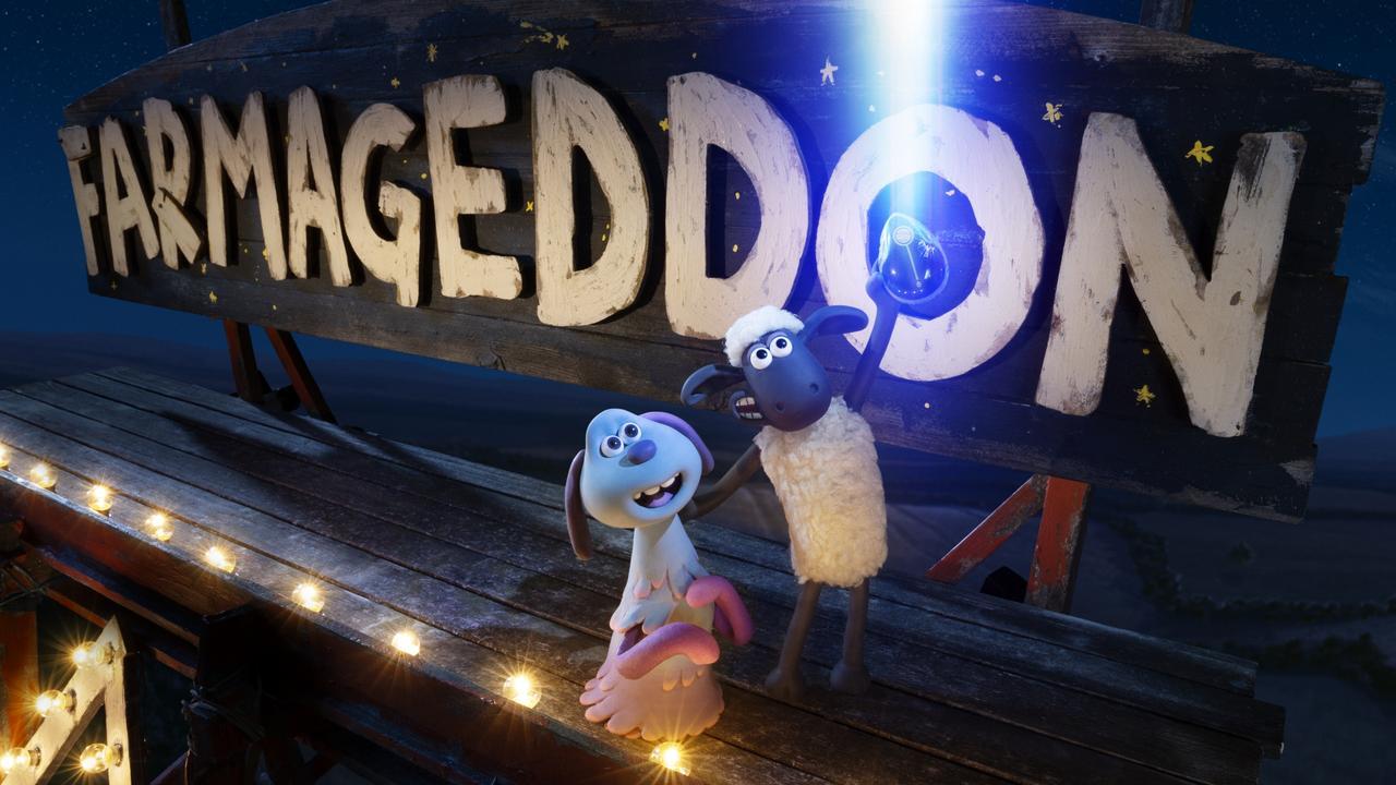 A scene from Shaun The Sheep: Farmageddon.