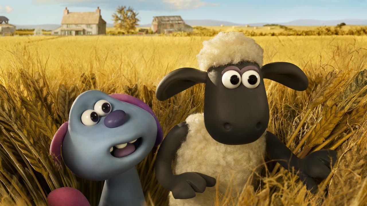 Shaun the Sheep and Lu-La the alien.