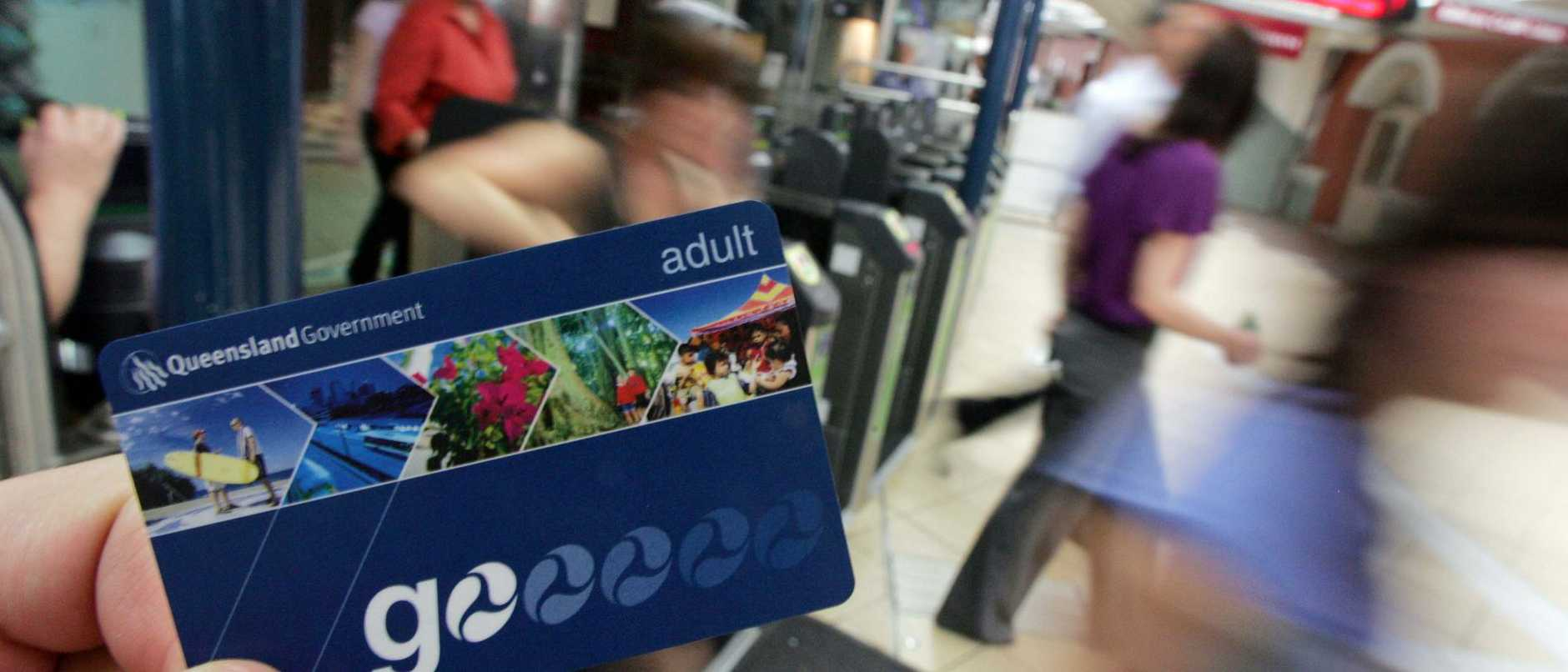 Go Card from TransLink, being used at Central Railway Station, Brisbane City.