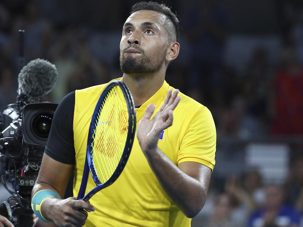 Nick Kyrgios is playing his part.