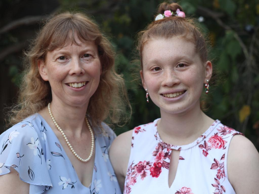 Catherine and Emma Smith, aged 16 (she was diagnosed with Autism in Year 7) from Melbourne. Picture: Supplied