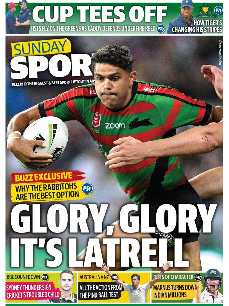 Latrell Mitchell is odds-on to join Souths.