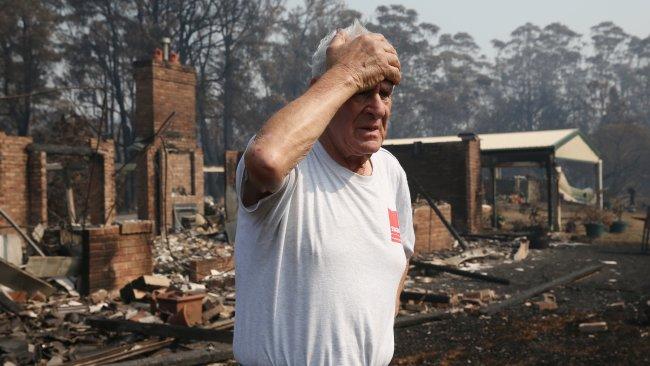 Devastation... Frank Condello on his property Yatte Yattah Nursery near Milton. Picture: David Swift