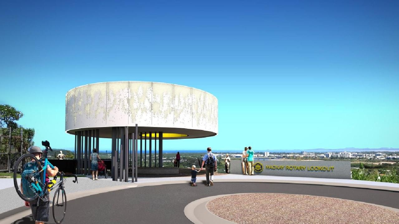 Concept design for the new North Mackay Rotary Lookout and scenic trail. Picture; Contributed