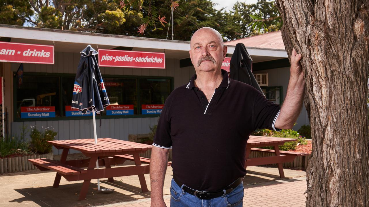 Parndana bakery owner Michael Boyd kept the business open for distressed locals to visit. Picture: Matt Loxton