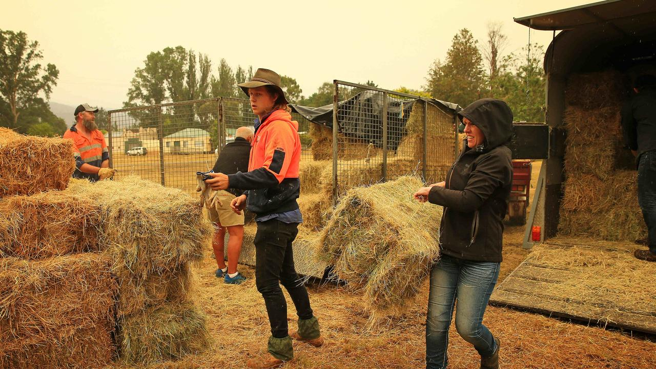 The hay provides much needed relief to the isolated town. Picture: Mark Stewart
