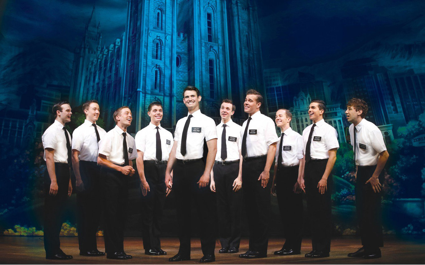 A scene from The Book of Mormon at the Princess Theatre, Melbourne.