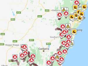 'No one should travel': Fires close roads