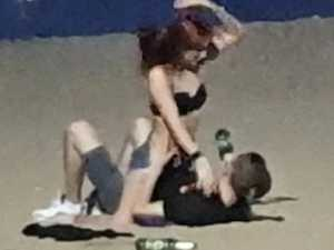 Tourists fined for sex act on beach