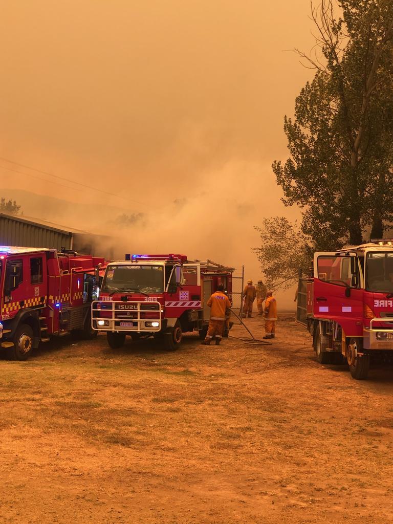 The town is still under threat. Picture: Bill Tilley