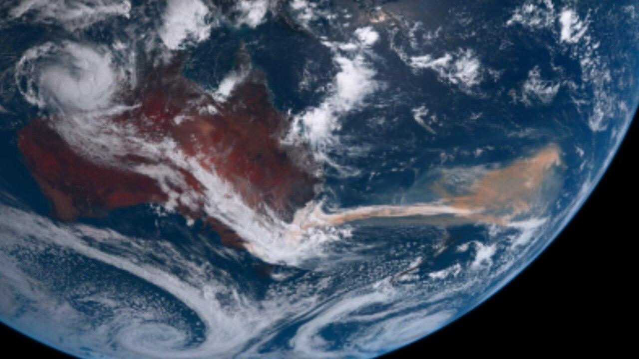 Bushfire smoke has made its way to Chile from Australia. Picture: https://himawari.asia/himawari8-image.htm