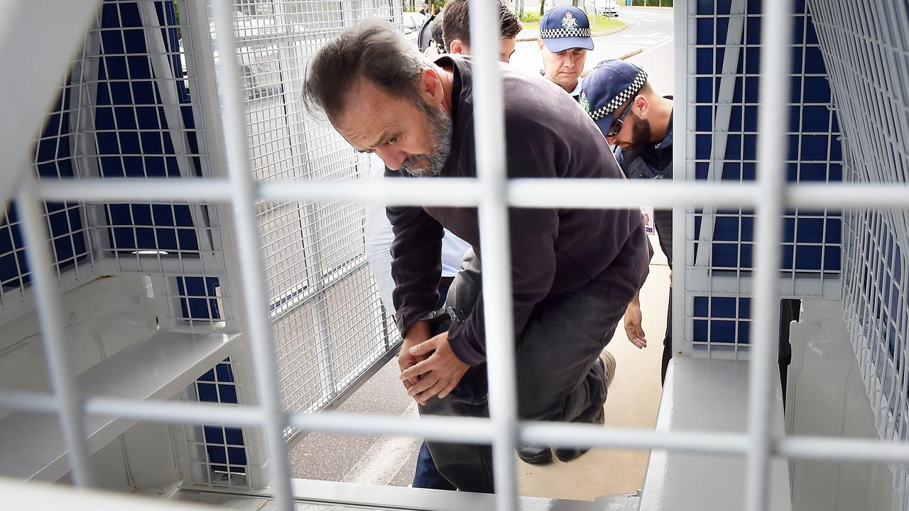Giuseppe Romeo is extradited from Adelaide to Darwin in March 2018. Picture: Patrina Malone