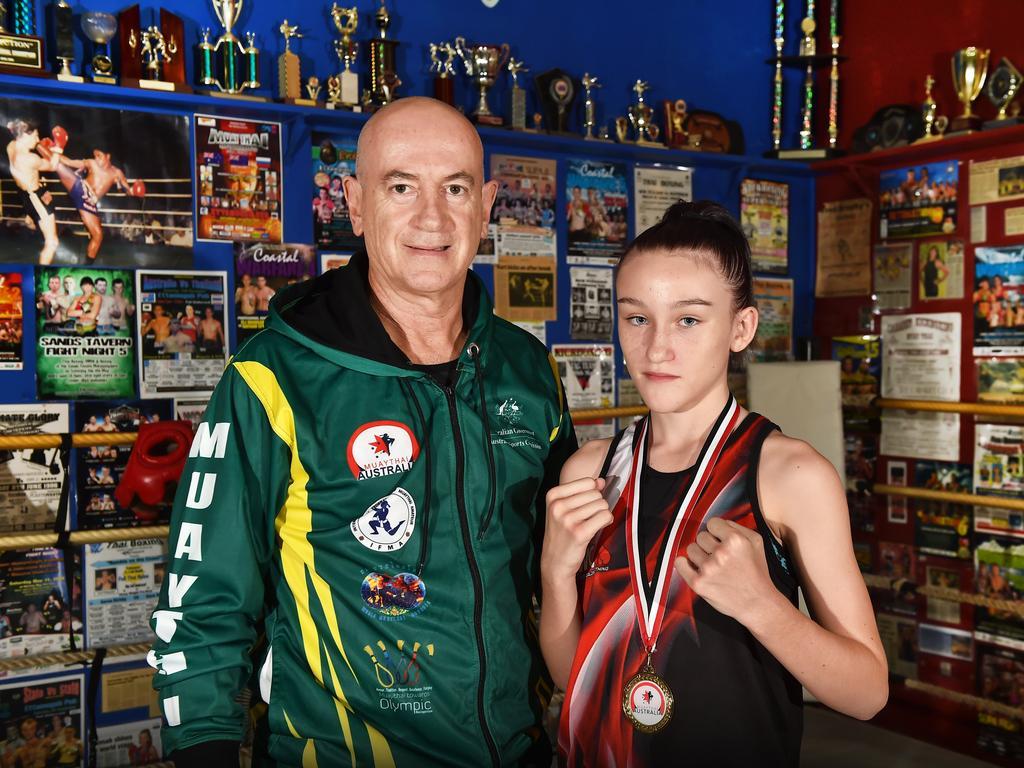 Skylah Hamill with her trainer Joe Hilton.