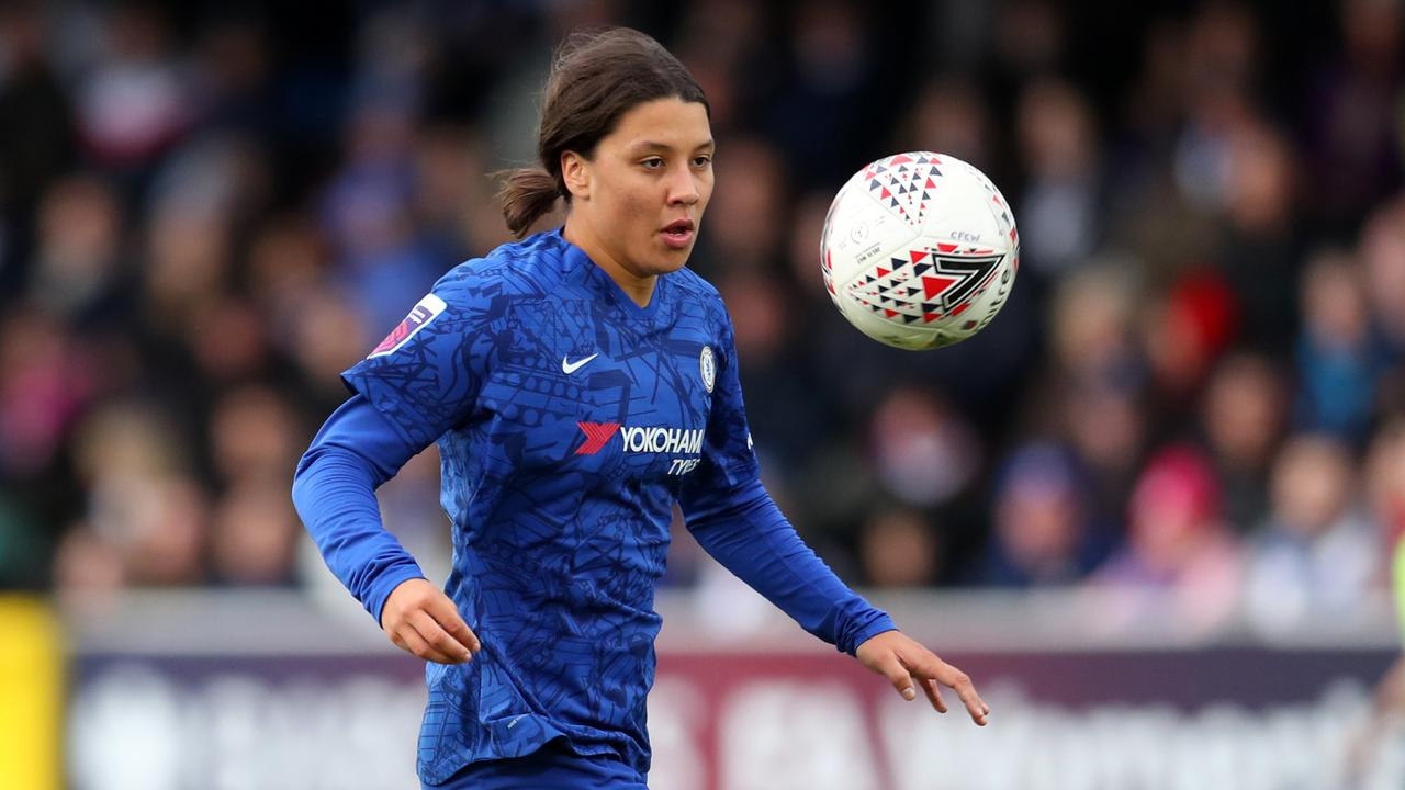 Sam Kerr made her debut for Chelsea in their win over Reading at Kingsmeadow. Picture: Getty Images