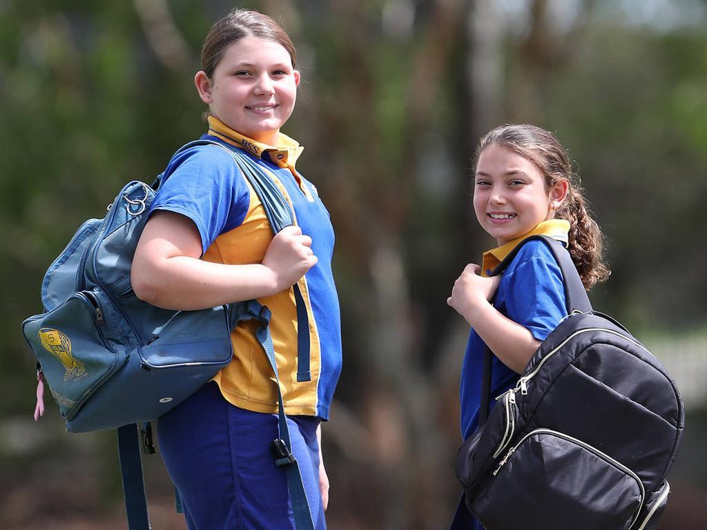 Elise Vogt's children Sakura Davis, 11, and Saffron Davis, 9. Picture: Peter Wallis