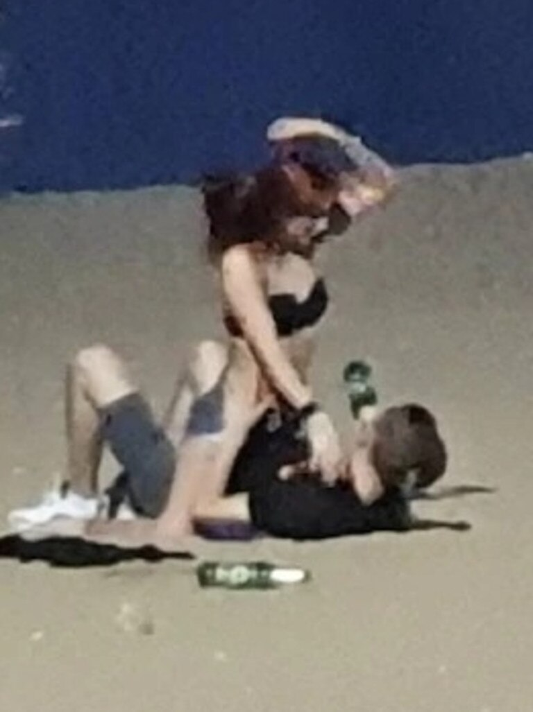 The pair were on holiday in Thailand when the incident was filmed.