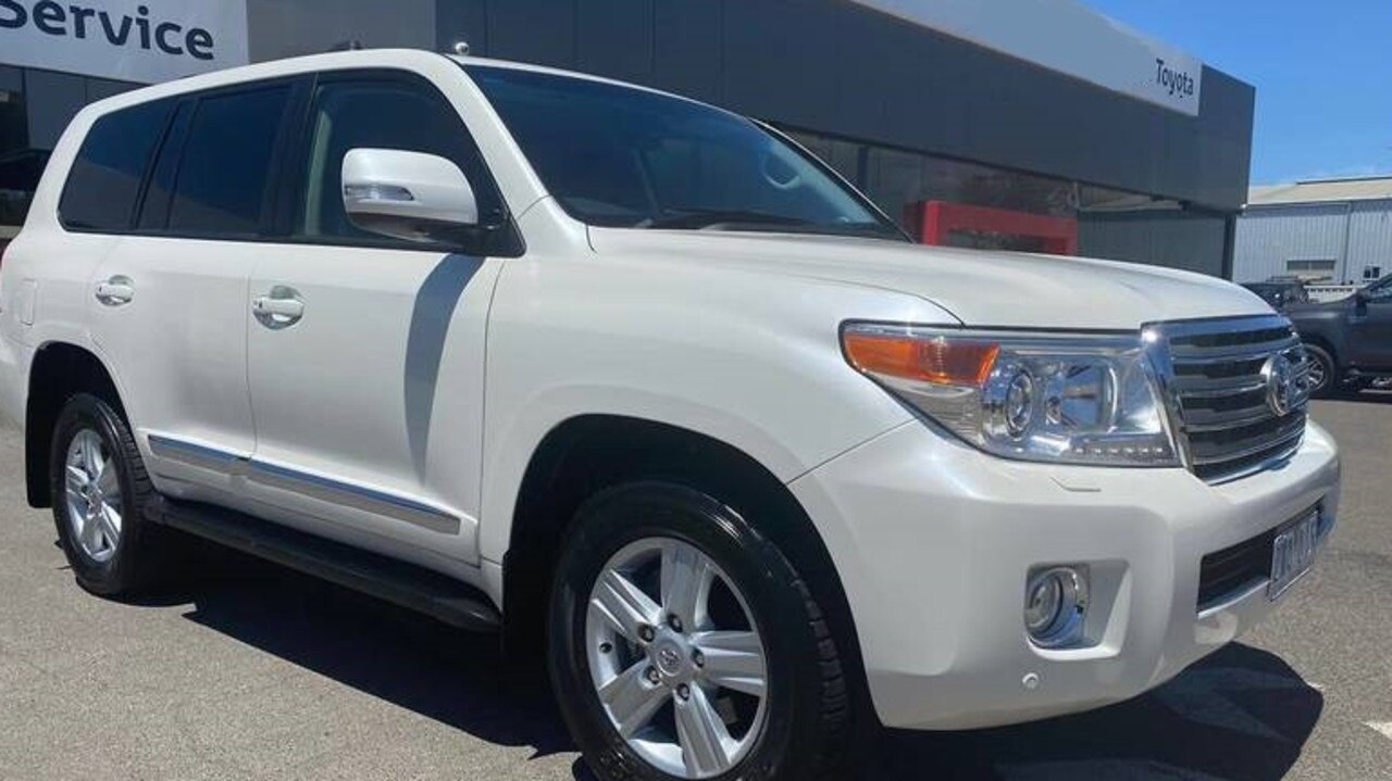 A white Toyota LandCruiser similar to the one the Logan City Council paid $107,000 for.